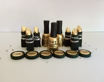 Makeup Fondant Gold Set
