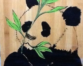 Panda Wall art on bamboo