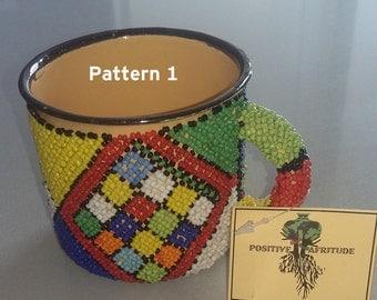 Beaded Tin mugs