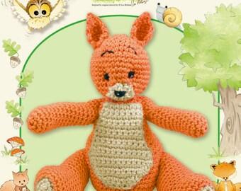 Woodland Folk Amigurumi Sally Squirrel Crochet Pattern Leaflet from DMC, toy pattern