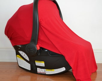 Infant Car Seat Cover Solid Red