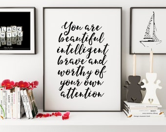 PRINTABLE Art,Gift For Mom,Gift For Women,Gift Mom,Inspirational Quote,Motivational Print,Gift For Her,Be Brave Darling,Typography Print