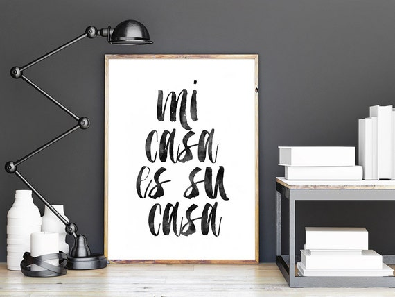 printable artmi casa es su casaspanish by typohouse on etsy. Black Bedroom Furniture Sets. Home Design Ideas