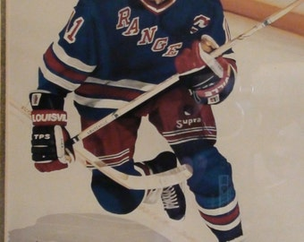 mark messier limited edition kelly russell studios litho