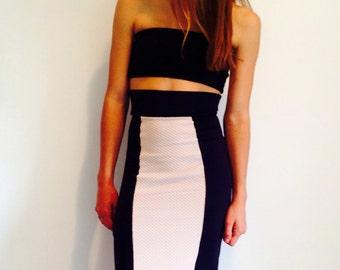 2-color pencil skirt