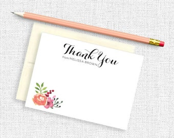 Personalized Stationery, Personalized Stationary, Thank You Cards, Thank You Notes, Thank You Stationery, Thank You Card Set,  Custom Notes