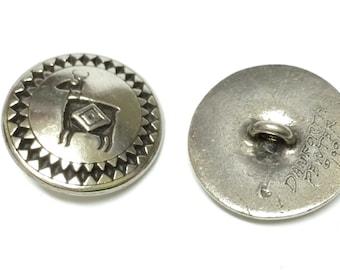 Danforth Southwest Deer Button- Silver Button- Lead Free Pewter- Metal Button- 22mm