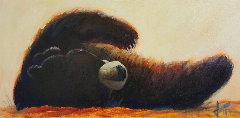 Sleeping bear art printresting bear wall art decorbear zoom amipublicfo Choice Image