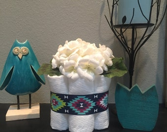 Navy Tribal Petite Diaper Cakes, Set of 4