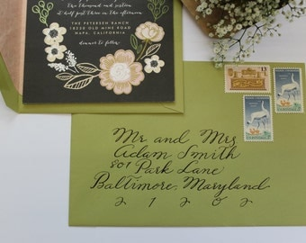 Custom Envelope Calligraphy : Summer Style