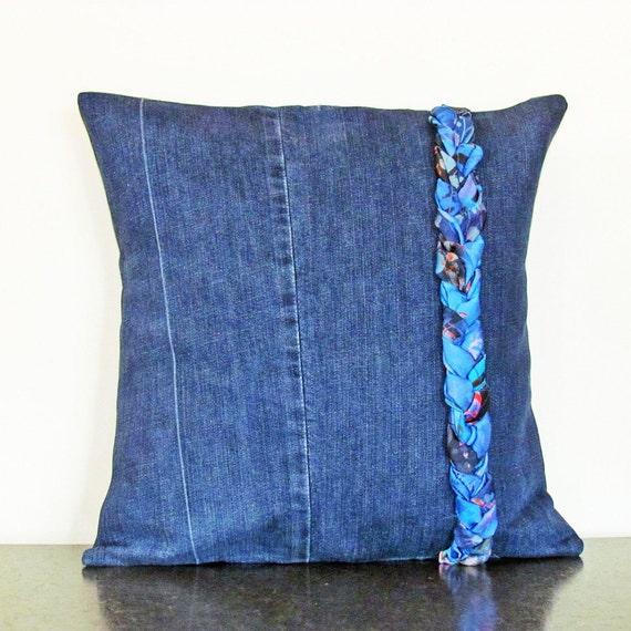 Decorative Denim Pillows : Throw Pillow Cover Decorative Pillows Denim Pillow Cover