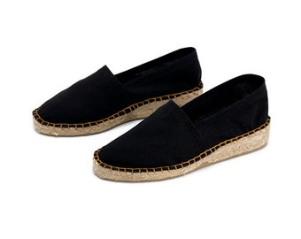 Espadrille with mini wedge in canvas black
