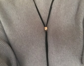 Lariat leather necklace