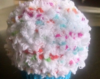 Large Knitted Cupcake