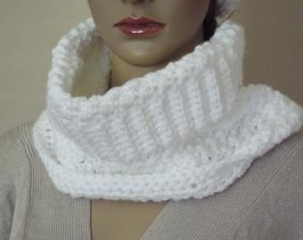 crochet neck warmer, crochet cowl,