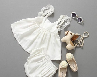 White Lace Dress/Top w/ Bloomers