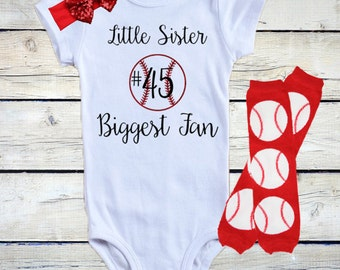 Baby Girl Baseball Outfit/ Baby Girl Baseball Onesie®/ Glitter Baseball Outfit/ Little Sister Outfit/ Personalized Baseball Onesie®