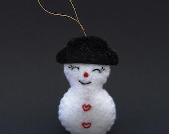 White snowman - white christmas, white, snowman, christmas gift, christmas decor, christmas decoration -