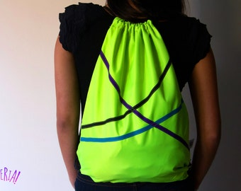 Handmade Neon Backpack