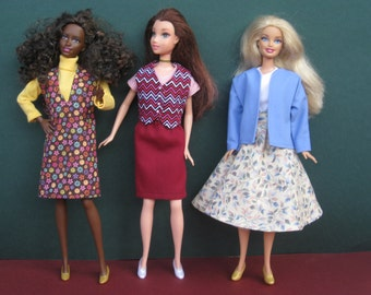 Barbie Doll Clothes Set - 6 Outfits