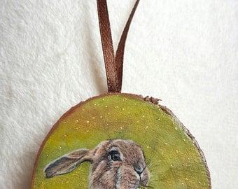 Miniature gold leaf - Easter Bunny - rabbit
