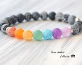 Mens Chakra Bracelet Yoga Bracelet Mala Beads Gemstone Bracelet Chakra Jewelry Mens Gift for him