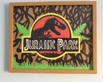 Jurassic Park paper cut out