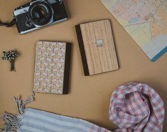 Wooden passport cover, Custom Passport holder, Passport Case, Valentines Gift, Fashionable Handmade Wooden Passport cover - Puppy/ PC006
