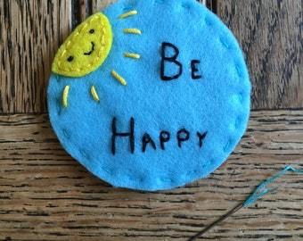 Be Happy Sunshine Patch - Sew On