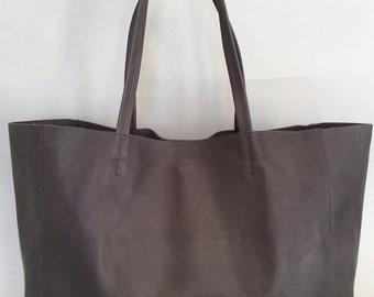Italian Leather Large Tote Bag