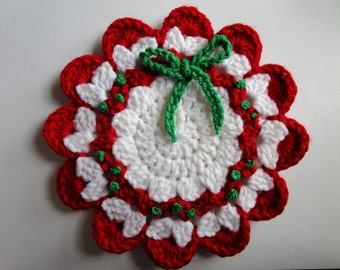 Decorative Christmas Wreath Potholder