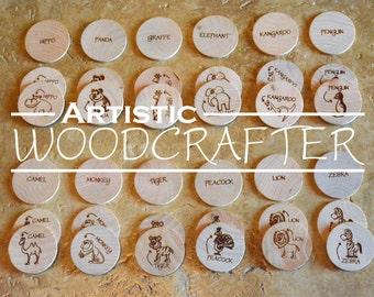 Wooden Memory Matching Game (Zoo Theme/Montessori Inspired)