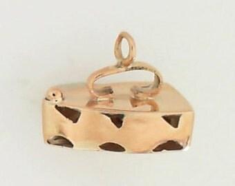 18K Yellow Gold Vintage iron Charm