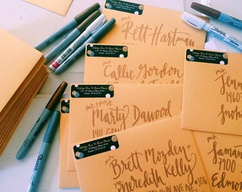 Calligraphy Invitations Addressing Service: Wedding Invitation, Engagement, Announcement, Save the Date, Custom