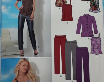 New Look 6058 Trousers, Shirt/Jacket and Top Sewing Pattern 10-22