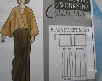 Sewing Workshop Plaza Jacket and Pant Sewing Pattern 6-22