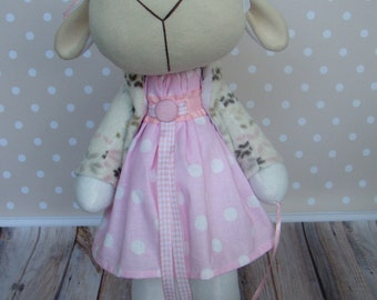 Textile sheep-soft toy, gift, fashion toy, textile doll, handmade, collectible toy, toy interior