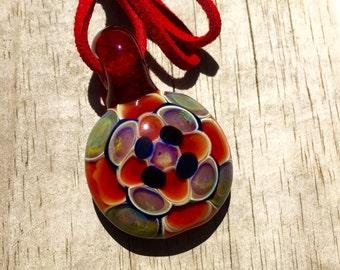 handmade blown glass pendant