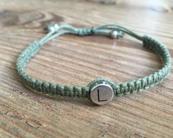 Name bracelet (letter in silver)