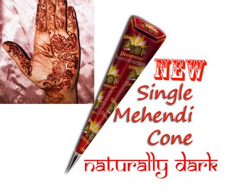 Henna Cone Mehndi Ready Mixed Tattoo Natural Organic Pre Mixed Paste Hand Rolled Cone