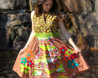 Flirty Handmade Short Summer Dress