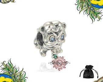 S925 Sterling Silver, Dog Charm,  fit Pandora