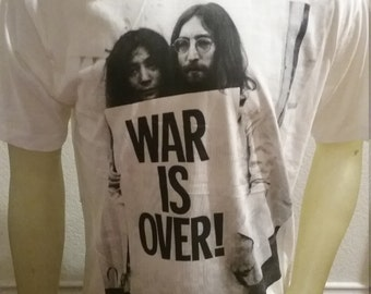 War is Over T-shirt  S, M, L, XL John Lennon Yoko Ono Vietnam