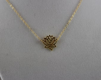 20% Off 14K Gold Fill Lotus Flower Charm Necklace BP4023