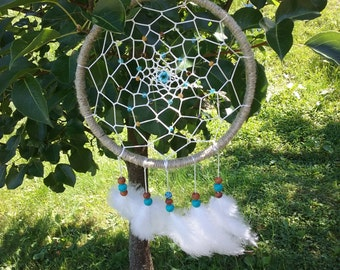 Tan and White Dream Catcher