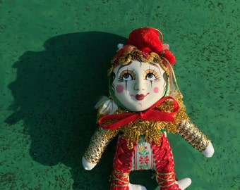 Russia Porcelain face Doll