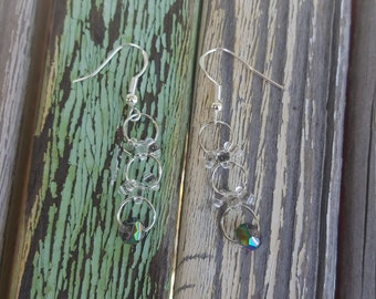 Multi-hoop dangle earrings
