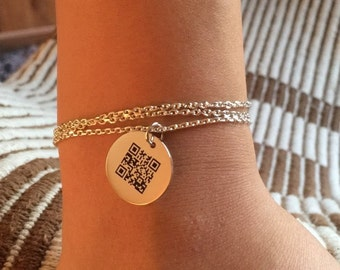 Honey message, Dainty Voice Bracelet, Personalize, Customize, Shiny