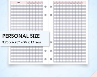 Monthly tracker filofax personal size planner inserts printable mo2p(habit tracker monthly chart, daily routine, routine chart, chore chart)
