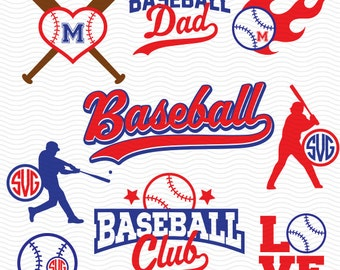 BASEBALL SVG files, Silhouette Studio Files, CriCut Files, Screen printing 05-P